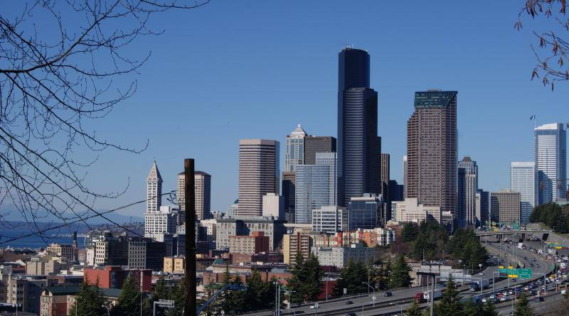 The City of Seattle - Photograph by Rianna Richards 02/05/2014 from Beacon Hill
