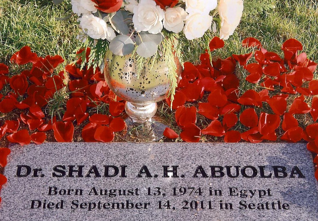 Cemetery of Dr. Shadi A.H. Abuolba in Covington, Washington. By Rianna Richards
